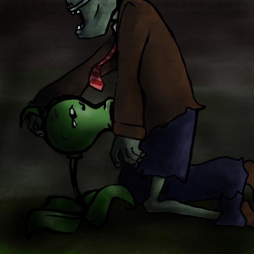 2 dibujos vs zombies plantas de Mom and dad cow and chicken