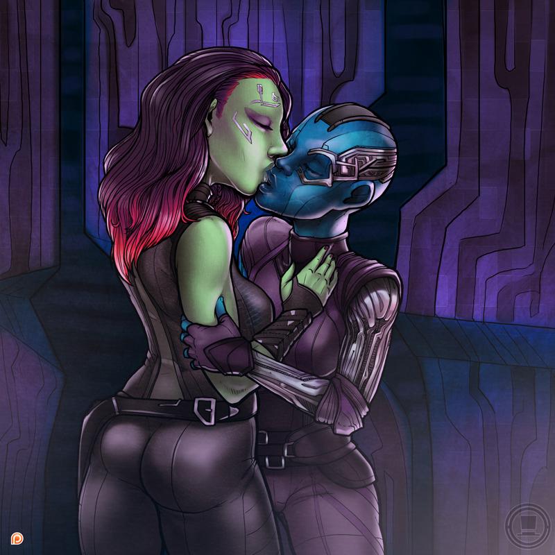 guardians galaxy of gamora the naked My hero aca