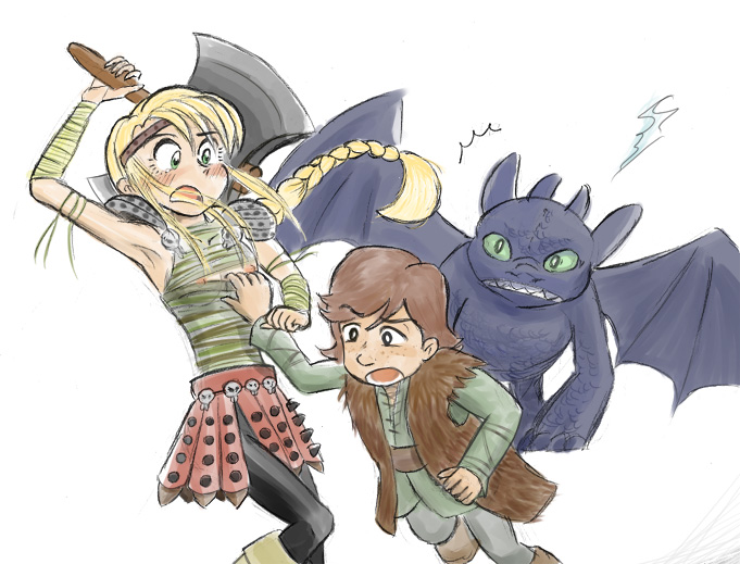 astrid race to hiccup dragons the edge and Battle through the heavens hentai