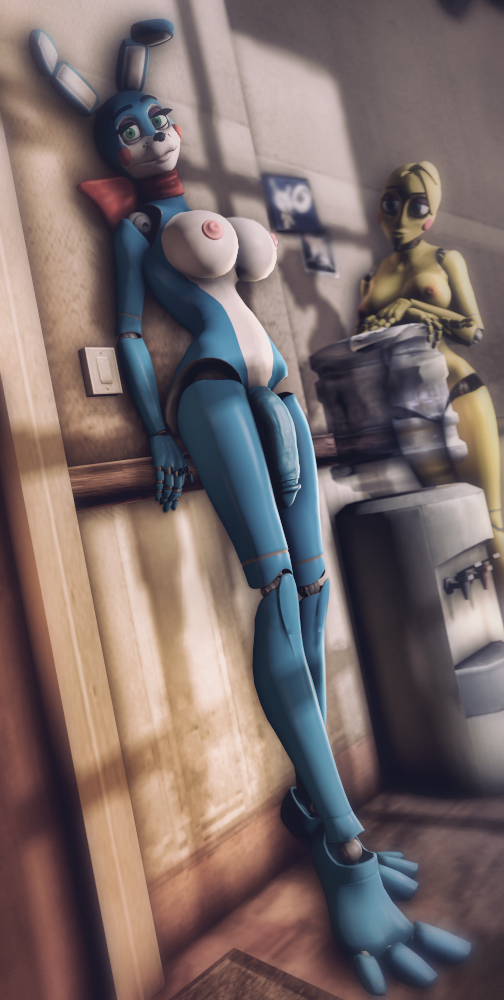 bonnie y toy chica toy Giantess growth out of clothes