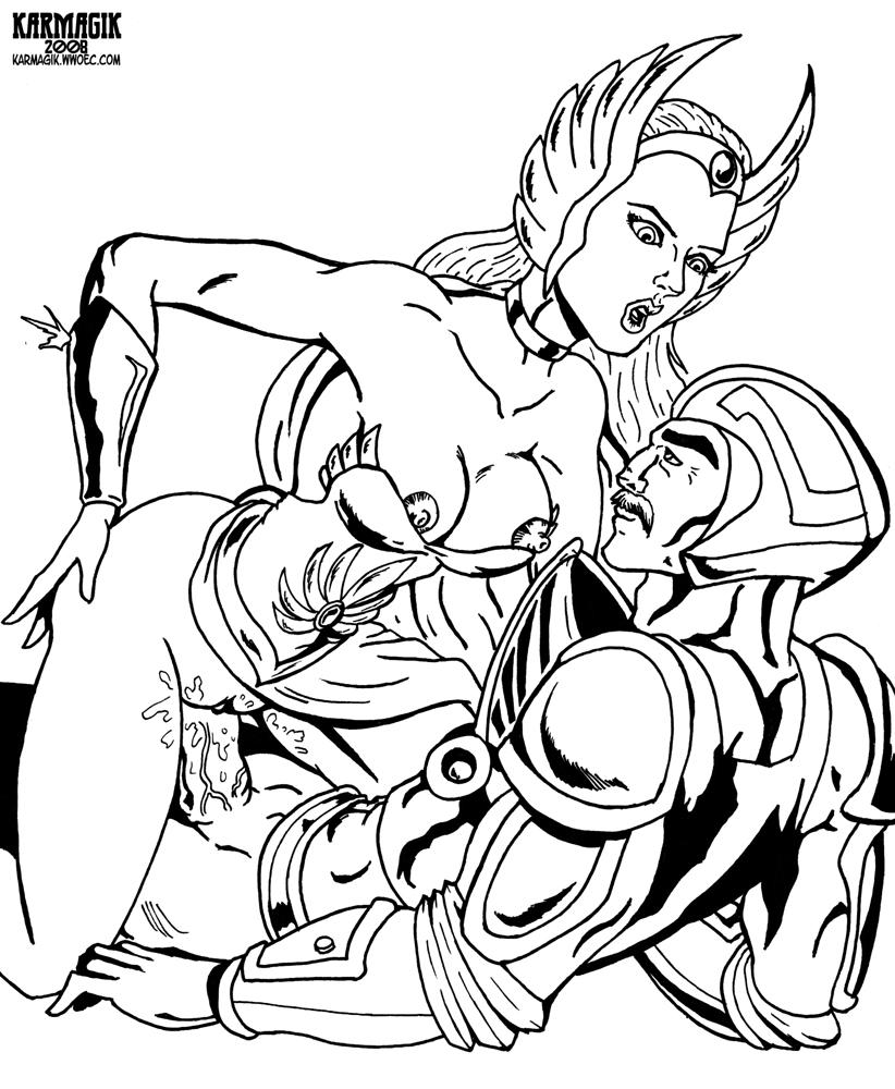power she of ra princess glimmer Zannen onna kanbu black general-san