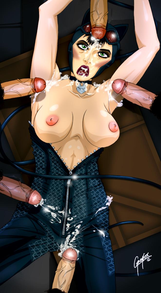 naked arkham catwoman city batman Anime porn girls with dicks
