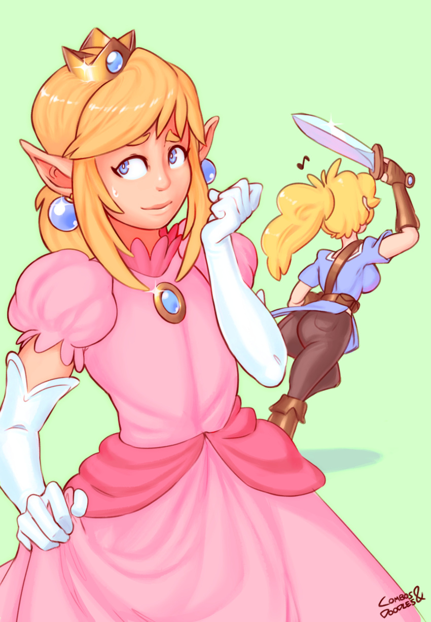 peach princess animated Uroinu: kedakaki seijo wa hakudaku ni somaru